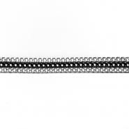 Band, Kette, 13 mm, 20418-1105, silbernschwarz