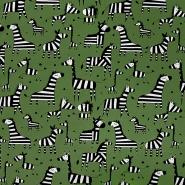 Jersey, Baumwolle, tierisch, 20519-027, dunkelgrün