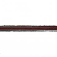 Band, Kristalle, 15 mm, 20422-001, grün-rot