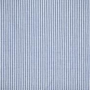 Pamuk, gužvanka, pruge, 20533-008, tamnoplava