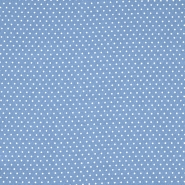 Gewebe, Viskose, Punkte, 20534-003, blau