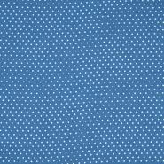 Gewebe, Viskose, Punkte, 20534-005, blau