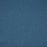 Tkanina, viskoza, točkice, 20534-006, petrolej