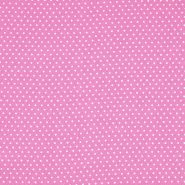 Tkanina, viskoza, pikice, 20534-013, roza