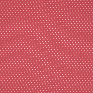 Gewebe, Viskose, Punkte, 20534-015, rot