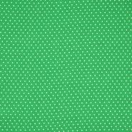 Tkanina, viskoza, pikice, 20534-025, zelena