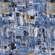 Jersey, Viskose, abstrakt, 20540-006, blau
