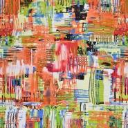 Jersey, Viskose, abstrakt, 20540-036, orangengrün