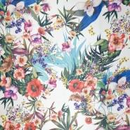 Gewebe, dünn, Digitaldruck, floral, 20547-050