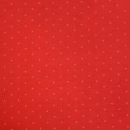 Tkanina, elastična, točkice, 20548-015, crvena