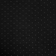 Tkanina, elastična, točkice, 20548-069, crna
