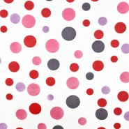 Leinen, Viskose, Punkte, 20552-015, rot-rosa