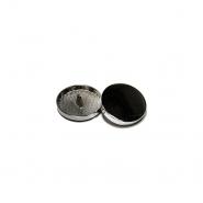 Gumb, kovinski, bombica, 10mm, 20427-105, temno srebrna
