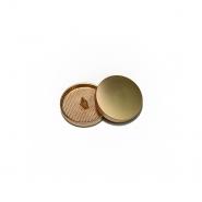 Knopf, metallisch, Bömbchen, 23mm, 20429-109, gold matt