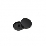 Gumb, metalni, bombica, 10 mm, 20427-130, mat crna