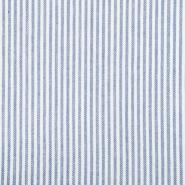 Leinen, Viskose, Streifen, 20555-003, hellblau