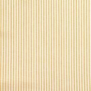 Lan, viskoza, črte, 20555-034, rumena