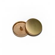 Gumb, kovinski, bombica, 23mm, 20429-109, mat zlata