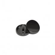 Gumb, kovinski, bombica, 18mm, 20432-105, črna