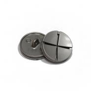 Gumb, metalni, bombica, 25 mm, 20436-110, srebrna