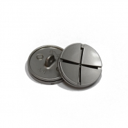 Knopf, metallisch, Bömbchen,25mm, 20436-110, silbern