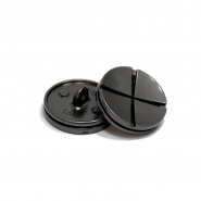 Knopf, metallisch, Bömbchen, 25mm, 20436-105, dunkelsilbern