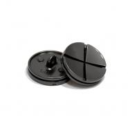 Gumb, metalni, bombica, 25 mm, 20436-105, tamnosrebrna