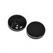 Gumb, modni, 25mm, 20445-002, črna