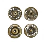 Druckknöpfe, zum Annähen, 25 mm, 20453-102, altgold