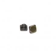 Gumb, metalni, bombica, 9 mm, 20454-102, staro zlato