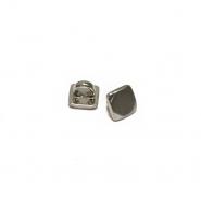 Gumb, metalni, bombica, 9 mm, 20454-109, srebrna