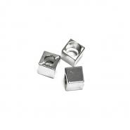 Schnurverschluss, metallisch, 5 mm, 20458-101, silbern