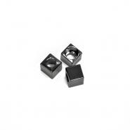 Schnurverschluss, metallisch, 5 mm, 20458-105, schwarz