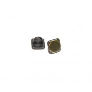 Gumb, metalni, bombica, 10 mm, 20459-102, staro zlato