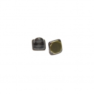 Gumb, kovinski, bombica, 10mm, 20459-102, staro zlato