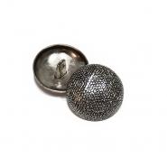 Gumb, kovinski, bombica, 18mm, 20461-2101, srebrna