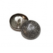 Knopf, metallisch, Bömbchen, 23mm, 20462-2101, silbern
