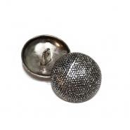 Knopf, metallisch, Bömbchen, 25mm, 20463-2101, silbern
