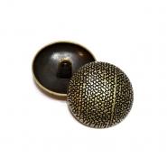 Gumb, metalni, bombica, 25 mm, 20463-2108, staro zlato