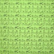 Jersey, Baumwolle, tierisch, 18274-10, grün - Bema Stoffe