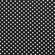 Jersey, Baumwolle, Punkte, 18217-20, schwarz