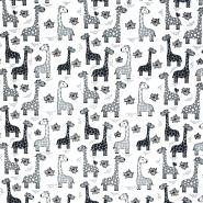 Jersey, Baumwolle, tierisch, 20600-02, weiß - Bema Stoffe