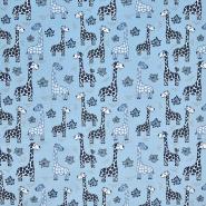 Jersey, Baumwolle, tierisch, 20600-09, blau - Bema Stoffe