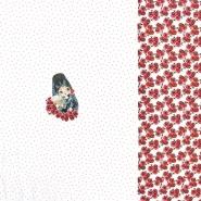 Jersey, pamuk, tisak, 20612-02, bijela