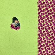Jersey, pamuk, tisak, 20612-10, zelena