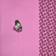 Jersey, pamuk, tisak, 20612-21, ružičasta