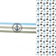 Jersey, pamuk, morski, 20618-15, plavo-siva
