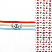Jersey, pamuk, morski, 20618-02, crveno-plava