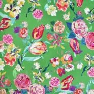 Gewebe, Viskose, floral, 20659