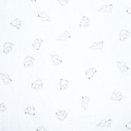 Tetra tkanina, dvostruka, životinjski, 20675-250, bijela